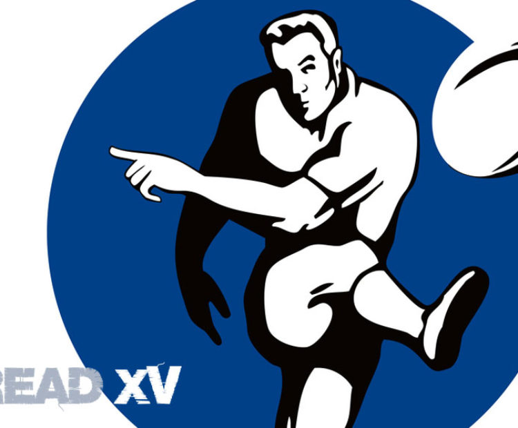 Read XV Logo with cartoon rugby player