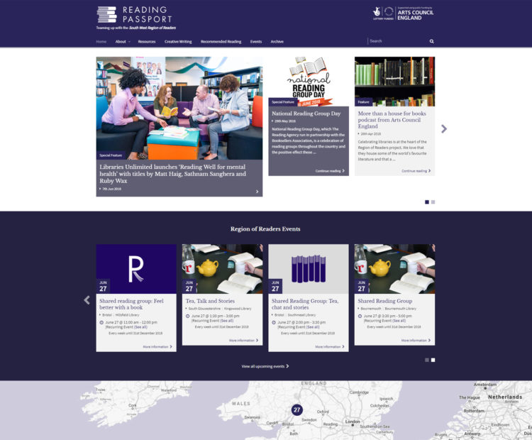 The Region of Readers interactive website for readers goes