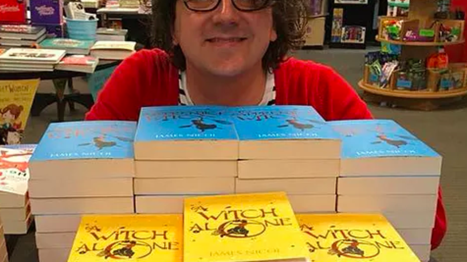 James Nicol with books