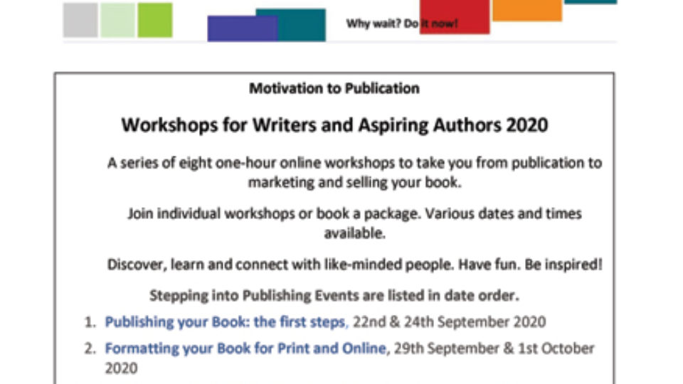 Ellie Stevenson Book Publishing and Marketing Workshops 2020