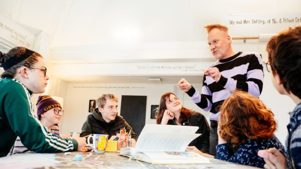 Creative writing workshop in The Writers' Block. Image Neal Megaw.